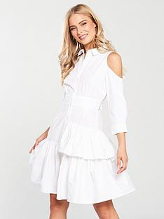 v-by-very-cold-shoulder-shirt-dress-white