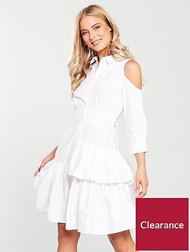 v-by-very-cold-shoulder-shirt-dress-white