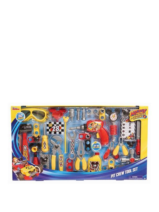 mickey mouse mickey and the roadster racers pit crew tool set | very ...
