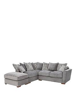 Kingston L/H Scatter Back Corner Chaise Sofa Bed With Footstool