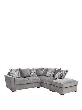 Kingston R/H Scatter Back Corner Chaise Sofa Bed With Footstool