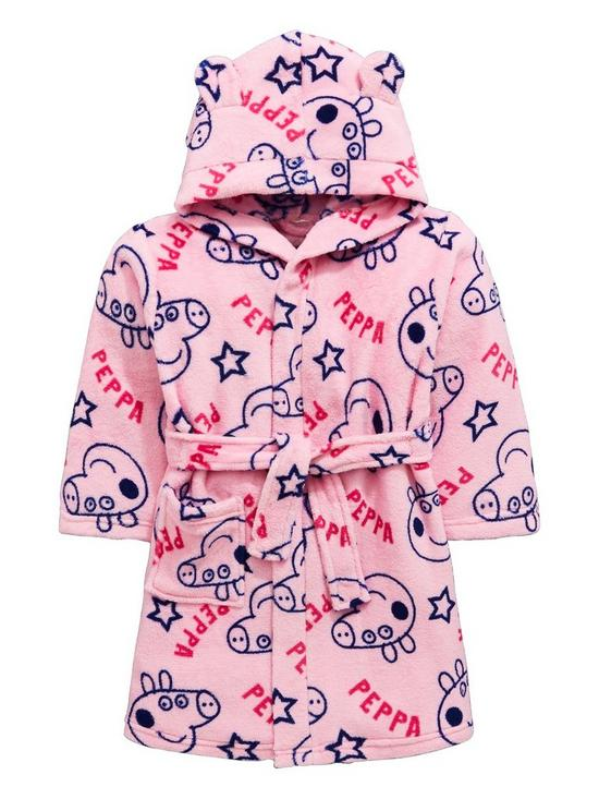 Peppa Pig Girls Robe With 3D Ears   very.co.uk