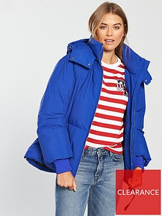 fcc10c05f68d2 Tommy Jeans Oversized Padded Hooded Coat - Blue