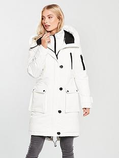 0fa8fb2f9b297 Tommy Jeans Expedition Padded Hooded Parka Coat - White