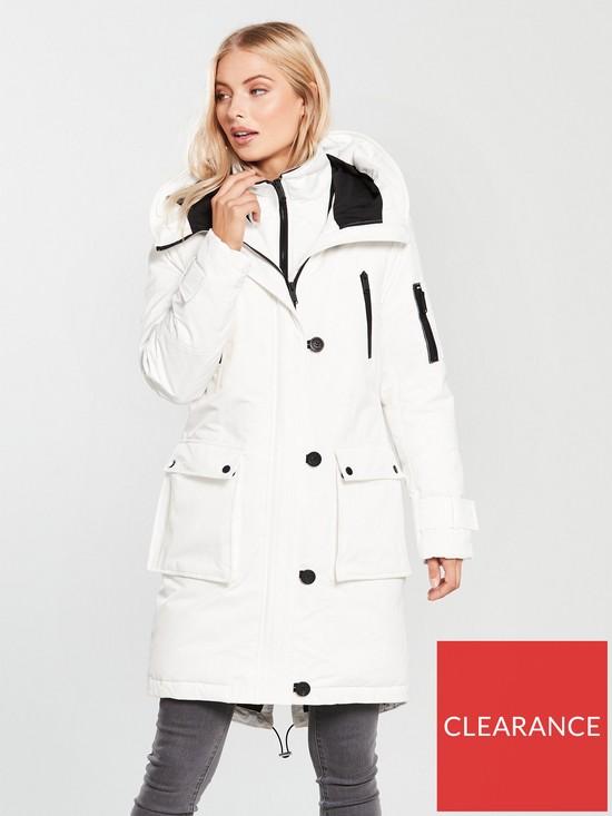 212eeb399 Expedition Padded Hooded Parka Coat - White