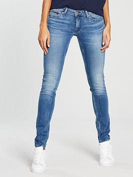 Tommy Jeans Low Rise Sophie Skinny Jean - Mid Blue