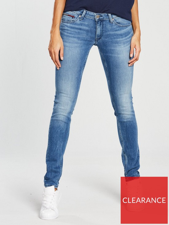 aa6ddb83397 Tommy Jeans Low Rise Sophie Skinny Jean - Mid Blue   very.co.uk
