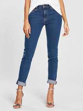 Tommy Jeans High Rise Izzy Slim Jean - Mid Blue, Mid Blue, Size 26, Women thumbnail