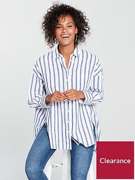 tommy-jeans-oversized-stripe-shirt-whiteblue