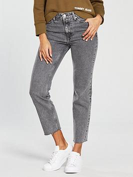 Tommy Jeans High Rise Izzy Slim Jean - Grey, Grey, Size 26, Women thumbnail