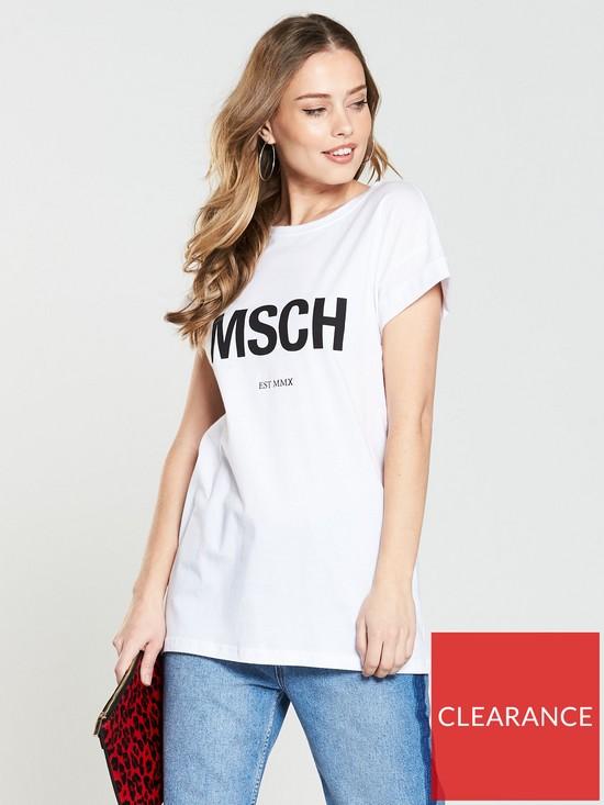 62ed1bd34df Moss Copenhagan Moss Copenhagen Alva MSCH Est T-shirt - White
