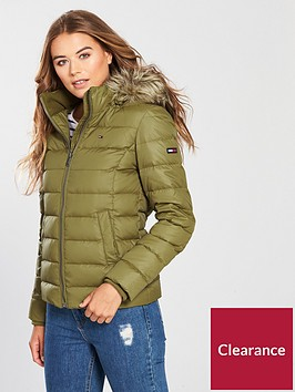 tommy-jeans-padded-fauxnbspfur-hooded-jacket-green