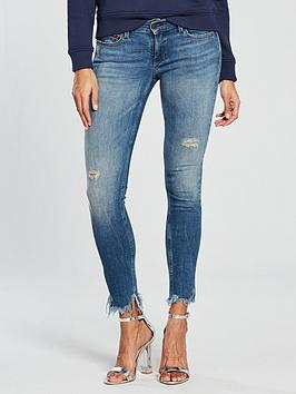 Tommy Jeans Mid Rise Nora Skinny Cropped Jean - Mid Blue
