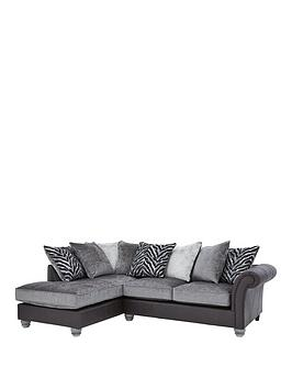 kenya-fabric-and-faux-leather-left-hand-corner-chaise-scatter-back-sofa