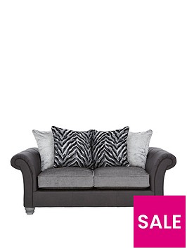 kenyanbspfabric-and-faux-leather-2-seater-sofa