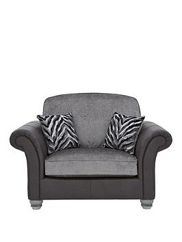 kenyanbspfabric-and-faux-leather-cuddle-chair