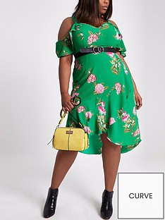 ri-plus-printed-ruffle-waisted-dress-green