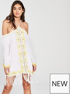 river-island-river-island-embellished-tassel-halterneck-dress--white