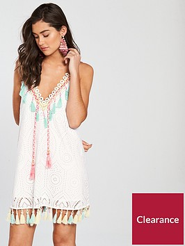 river-island-embroidered-tassel-mini-dress-white
