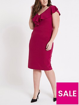 ri-plus-waisted-midi-dress--pink