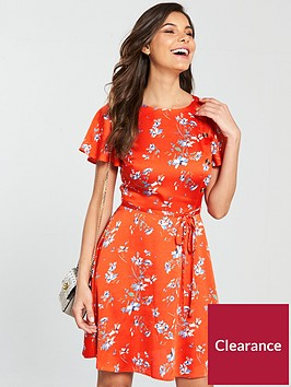 v-by-very-side-seam-button-down-dress-red