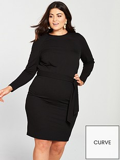 v-by-very-curve-jersey-crepe-pencil-dress-black
