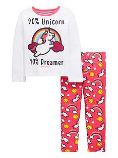 emoji-unicorn-glitter-pyjamas-set