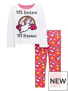 emoji-unicorn-glitter-pyjamas-set