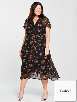 v-by-very-curve-tie-waist-midi-dress