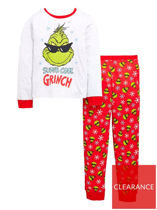 0da8bbf728df The Grinch Christmas Grinch Boys Pyjamas Set - Multi Coloured