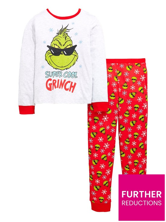 The Grinch Christmas Grinch Boys Pyjamas Set Very Co Uk