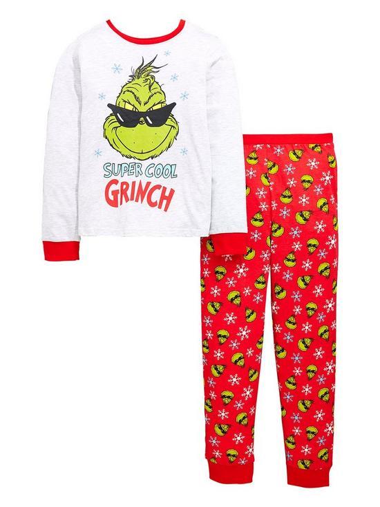 The Grinch Christmas Grinch Boys Pyjamas Set Very Co Uk