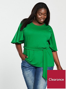 v-by-very-curve-belted-kimono-sleeve-top-green