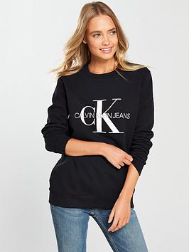 Calvin Klein Jeans Monogram Logo Sweat - Ck Black
