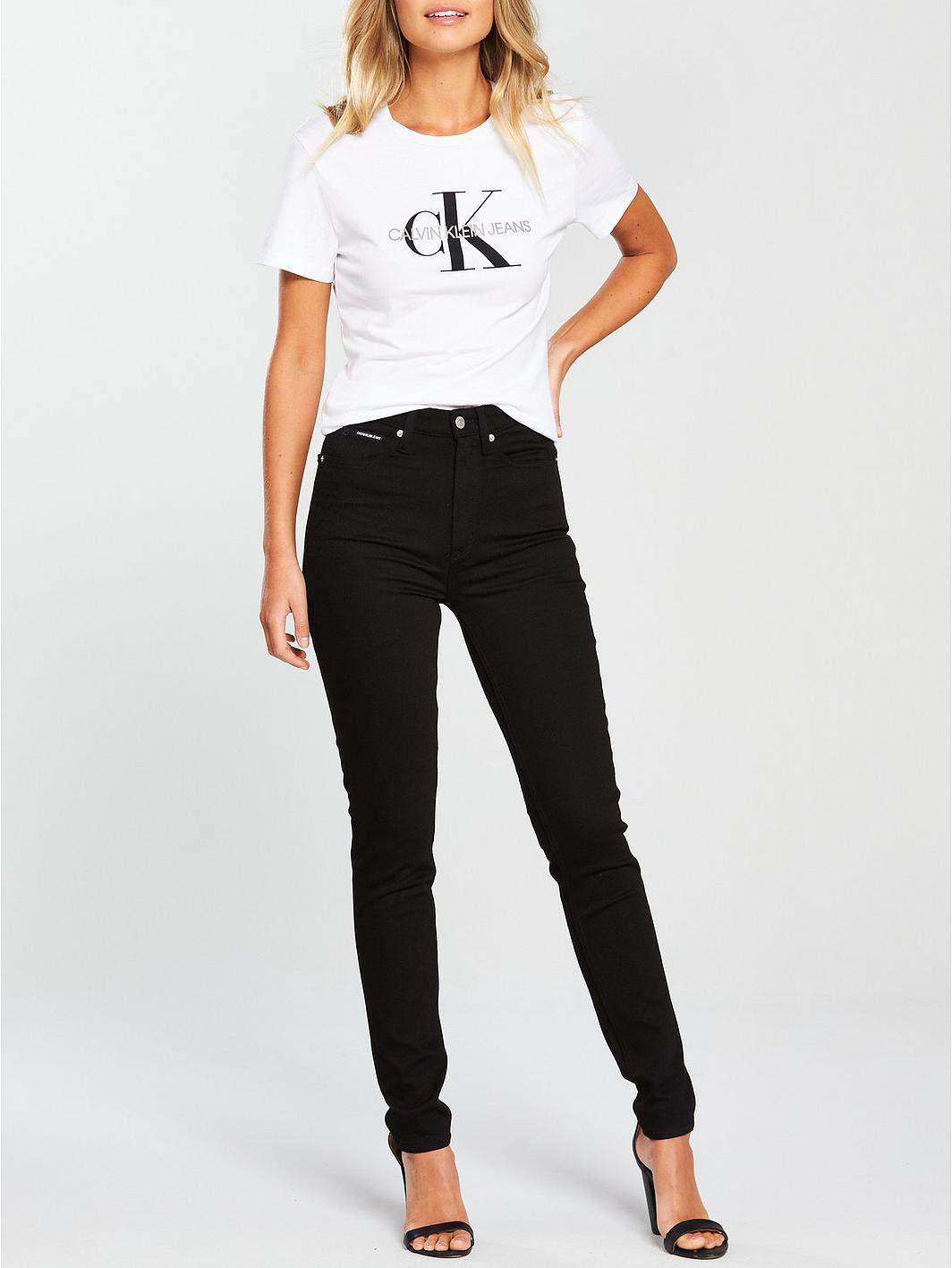 Calvin Klein Jeans Monogram Logo T-Shirt - Bright White 4gL1hQ