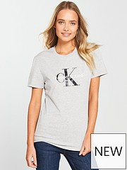 b082a7b5e Calvin Klein Jeans Monogram Logo T-Shirt - Light Heather Grey