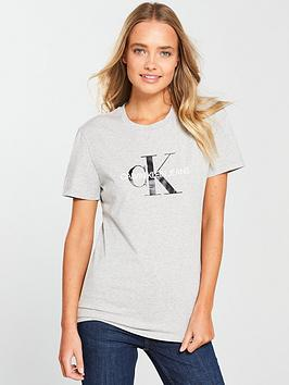 Calvin Klein Jeans Monogram Logo T-Shirt - Light Heather Grey