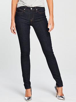 Calvin Klein Jeans Ckj 010 Mid Rise Skinny Jean - Blue Rinse