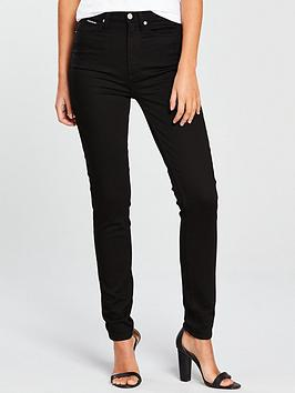 Calvin Klein Jeans High Rise Skinny - Eternal Black