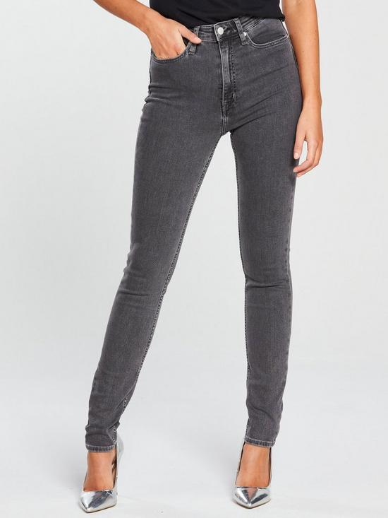 7ed035f8c2c0 Calvin Klein Jeans High Rise Skinny Jean - Stockholm Grey | very.co.uk