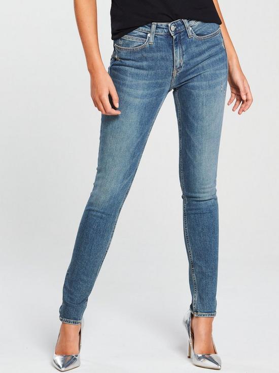 d70ccafc Calvin Klein Jeans CKJ 010 Mid Rise Skinny Jean - London Mid Blue ...