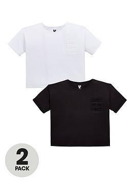 v-by-very-girls-2-pack-ruffle-pocket-t-shirts