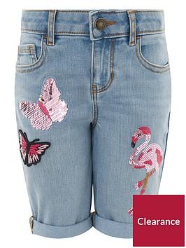 monsoon-flamingo-butterfly-embellished-short