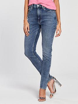 Calvin Klein Jeans 020 High Rise Slim West Cut Jean - Aptos Blue
