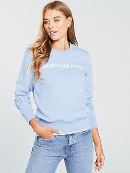 Calvin Klein Jeans Institutional Crew Neck - Chambray Blue