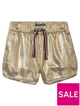 tommy-hilfiger-girls-gold-sport-short