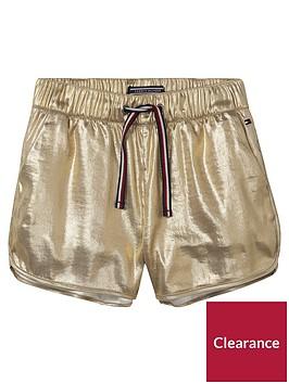 tommy-hilfiger-girls-sport-short-gold