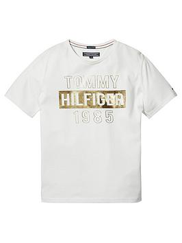 tommy-hilfiger-girls-foil-print-short-sleeve-t-shirt