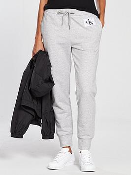 Calvin Klein Jeans Cotton Sweatpants - Light Grey Heather