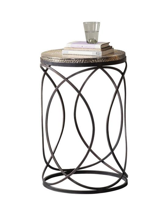 Hudson Living Kimba Metal Side Table